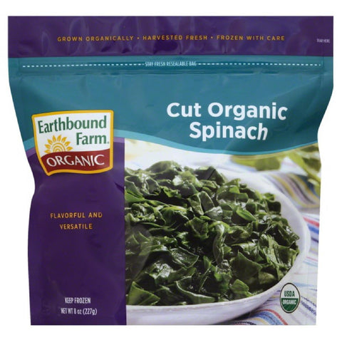 Earthbound Farm Cut Spinach, 8 Oz (Pack of 12)