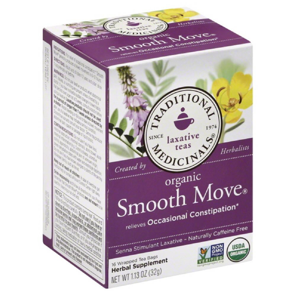 Traditional Medicinals Smooth Move Naturally Caffeine Free Herbal Tea Tea Bags, 16 Bg (Pack of 6)