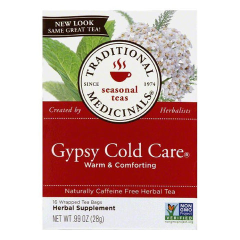 Traditional Medicinals Gypsy Cold Care Herbal Tea, 16 ea (Pack of 6)