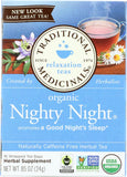 Traditional Medicinals Organic Nighty Night Herbal Tea, 16 Bg (Pack of 6)