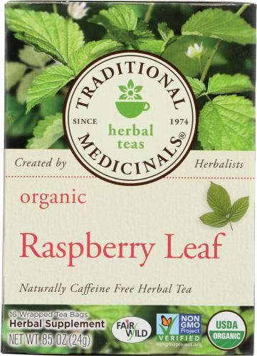 Traditional Medicinals Organic Raspberry Leaf Herbal Tea, 16 Bg (Pack of 6)