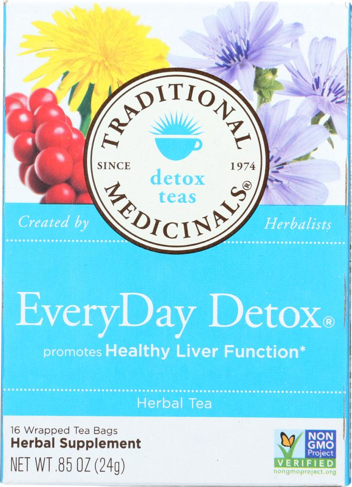 Traditional Medicinals Everyday Detox Herbal Tea, 16 Bg (Pack of 6)