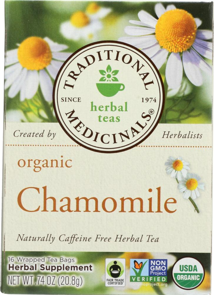 Traditional Medicinals Organic Chamomile Herbal Tea, 16 Bg (Pack of 6)