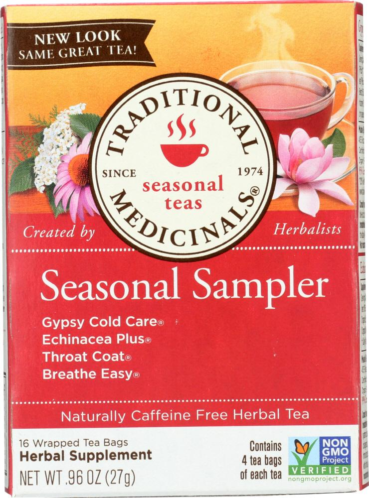 Traditional Medicinals Seasonal Sampler Herbal Tea, 16 Bg (Pack of 6)