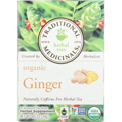 Traditional Medicinals Organic Ginger Herbal Tea, 16 Bg (Pack of 6)