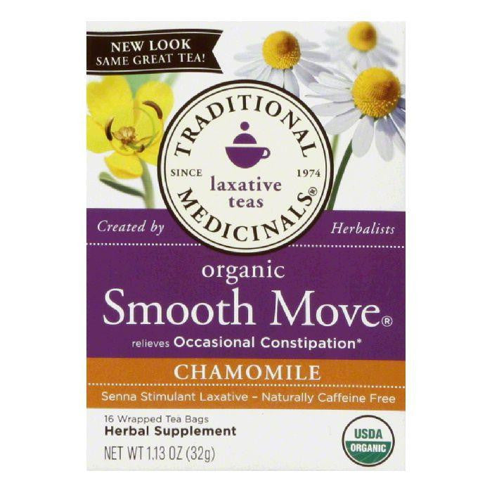 Traditional Medicinals Smooth Move Organic Chamomile Wrapped Tea Bags, 16 BG (Pack of 6)