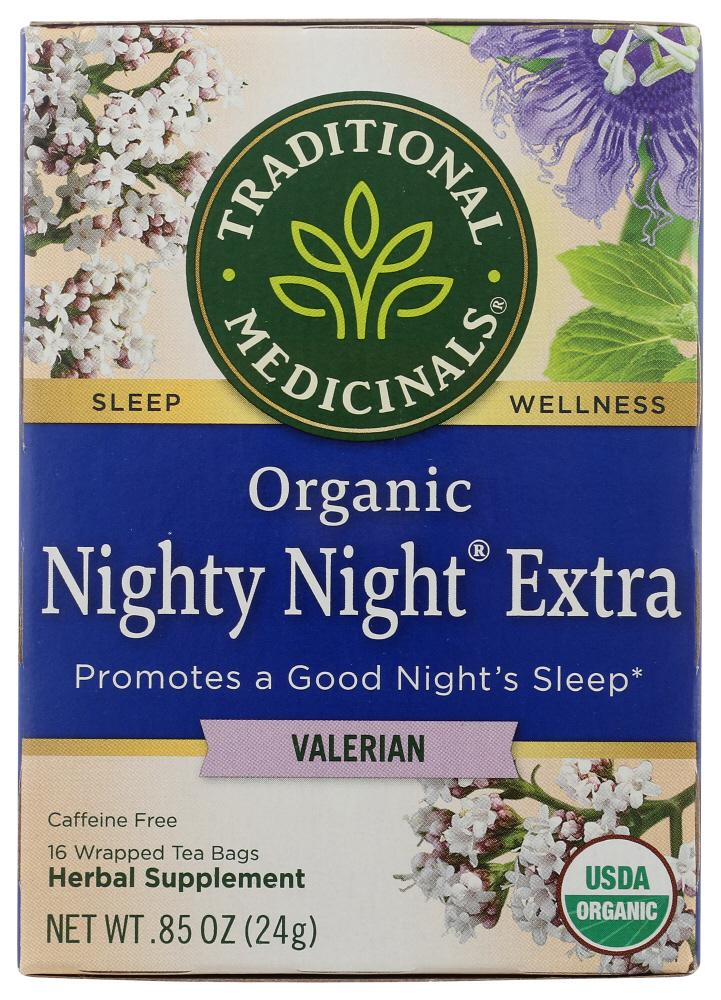 Traditional Medicinals Organic Nighty Night Extra Herbal Tea, 16 Bg (Pack of 6)