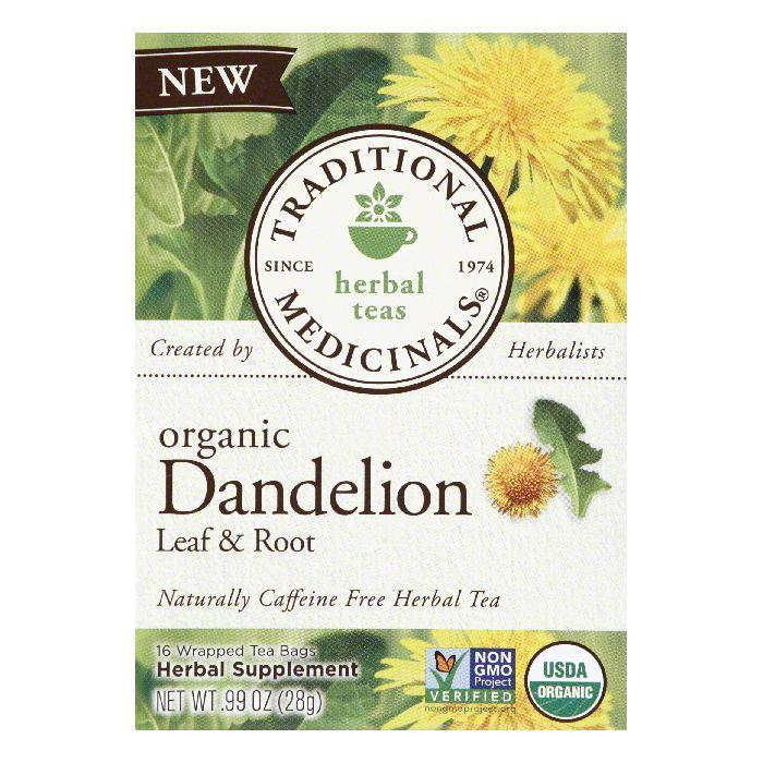 Traditional Medicinals Organic Dandelion Leaf & Root Wine Herbal Tea, 16 Bg (Pack of 6)