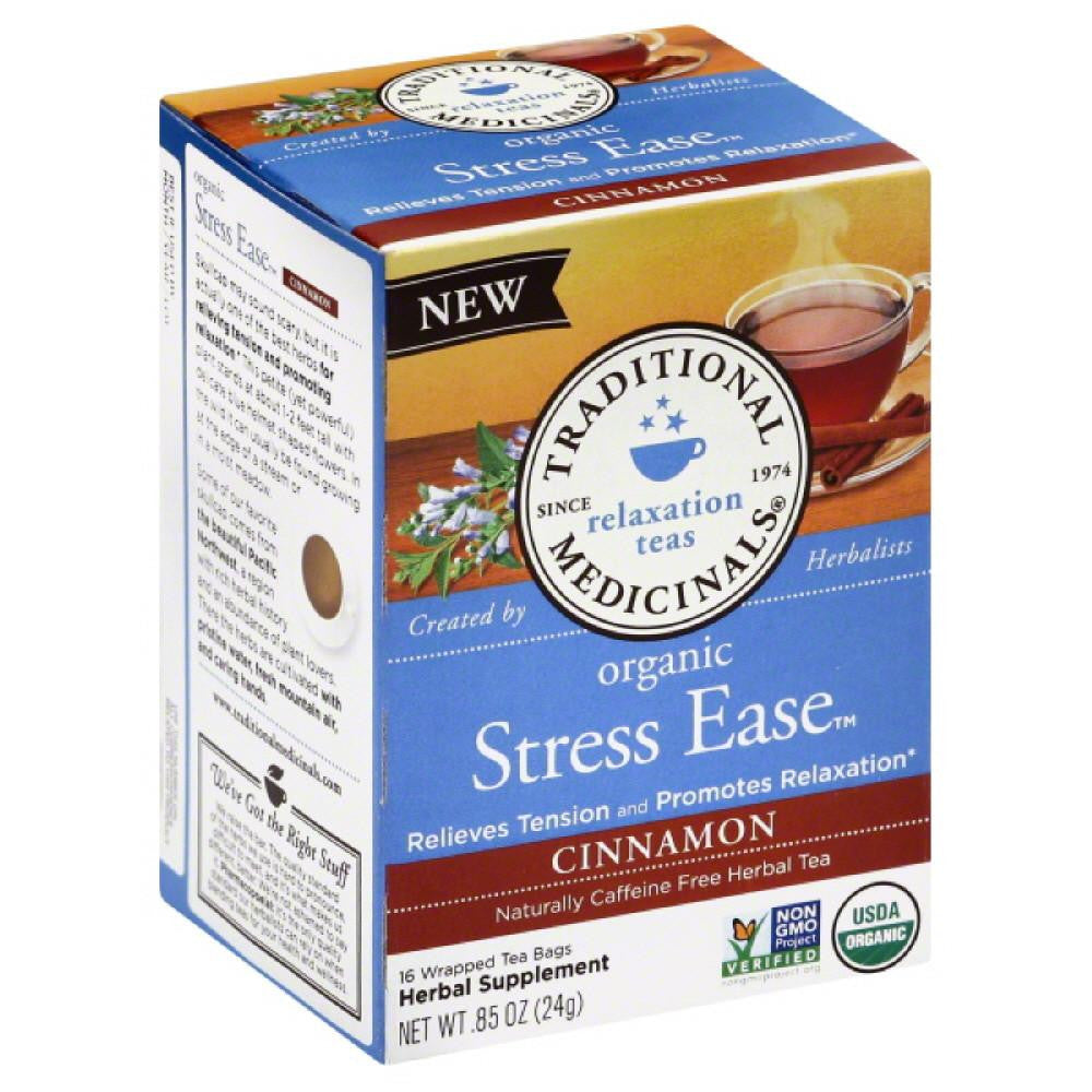 Traditional Medicinals Cinnamon Naturally Caffeine Free Herbal Tea Tea Bags, 16 Bg (Pack of 6)