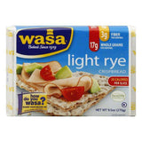 Wasa Crispbread Light Rye, 9.5 OZ (Pack of 12)