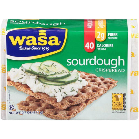 Wasa Sourdough Crispbread 9.7 Oz (Pack of 12)