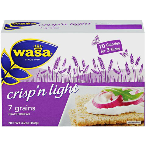 Wasa Crisp 'n Light 7 Grain Crackerbread 4.9 Oz (Pack of 10)