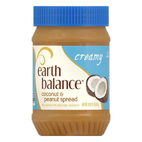 Earth Balance Creamy Coconut & Peanut Spread, 16 OZ (Pack of 12)