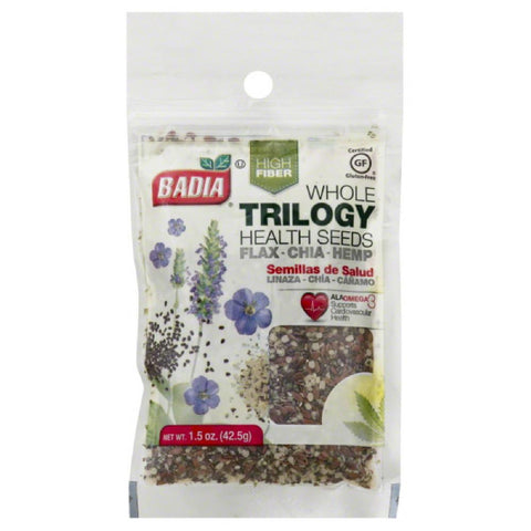 Badia Whole Trilogy Health Seeds, 1.5 Oz (Pack of 12)