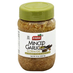 Badia Minced Garlic in Olive Oil, 8 Oz (Pack of 12)