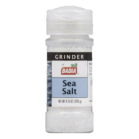 Badia Sea Salt Grinder, 4.25 OZ (Pack of 8)