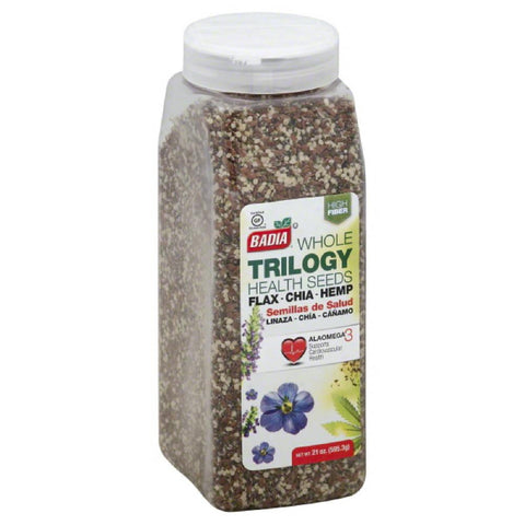 Badia Whole Trilogy Health Seeds, 21 Oz (Pack of 4)