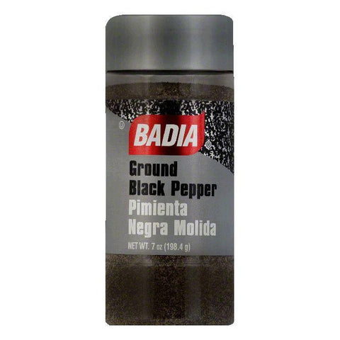 Badia Black Pepper Ground, 7 OZ (Pack of 12)