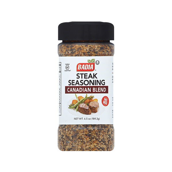 Badia Steak Seasoning, Canadian blend, 6.5 OZ (Pack of 6)