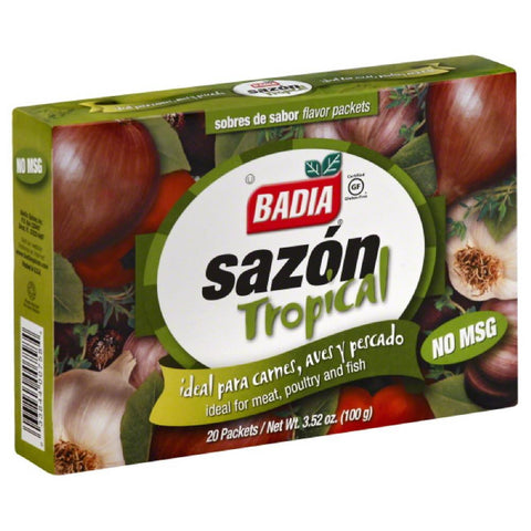 Badia Sazon Tropical Flavor Packets, 3.52 Oz (Pack of 15)