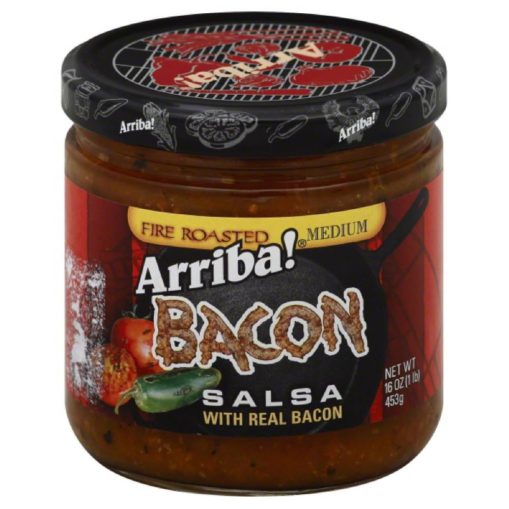 Arriba Medium Bacon Fire Roasted Salsa, 16 Oz (Pack of 6)