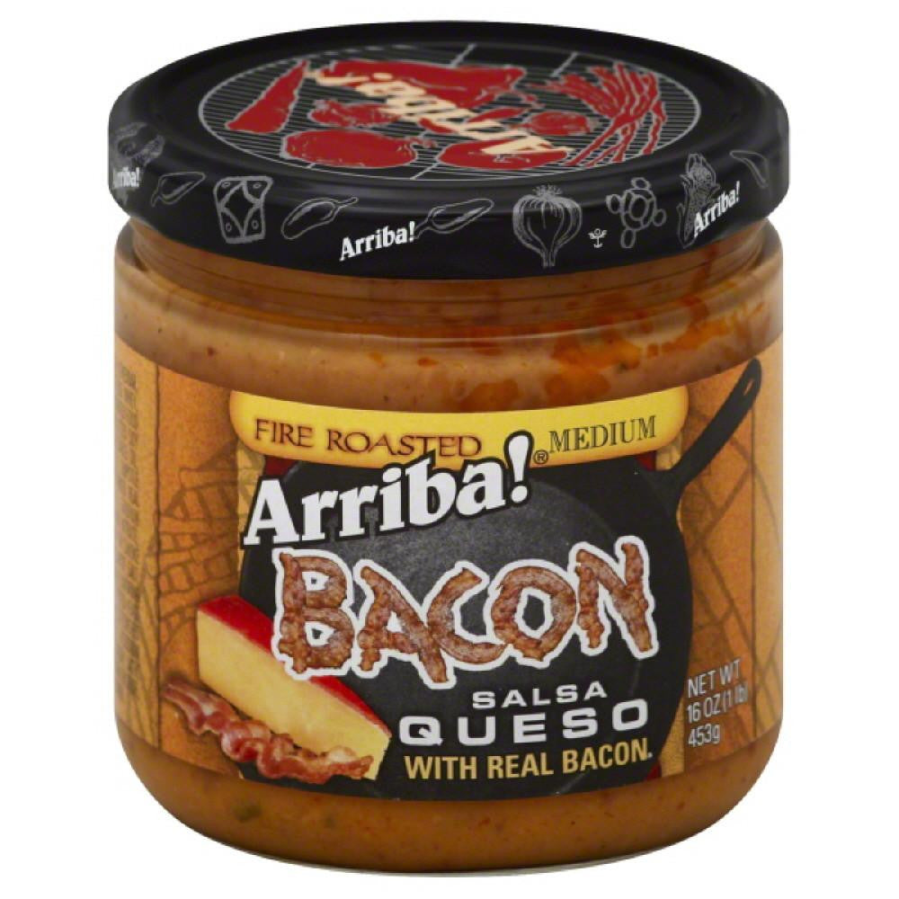 Arriba Medium Bacon Fire Roasted Salsa Queso, 16 Oz (Pack of 6)