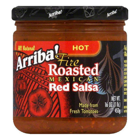 Arriba Hot Red Salsa, 16 OZ (Pack of 6)