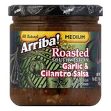 Arriba Riba Salsa Garlic & Cilantro, 16 OZ (Pack of 6)