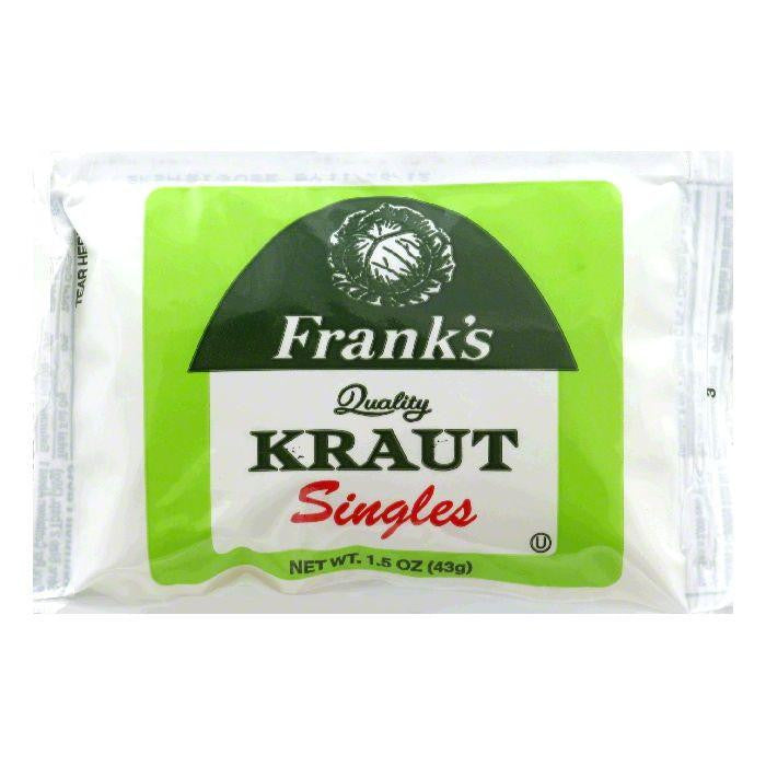 Frank's Sauerkraut Singles, 1.5 OZ (Pack of 18)