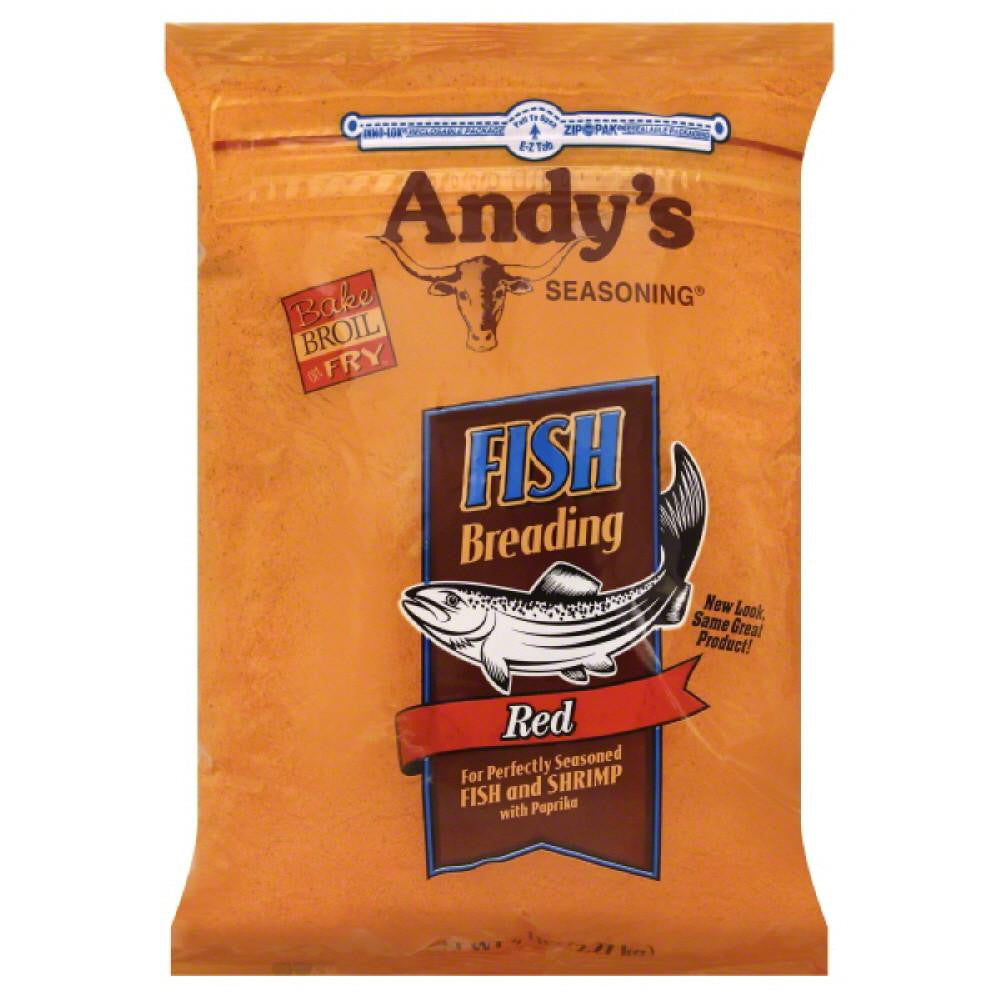 Andys Seasoning Red Fish Breading, 5 Lb (Pack of 6)