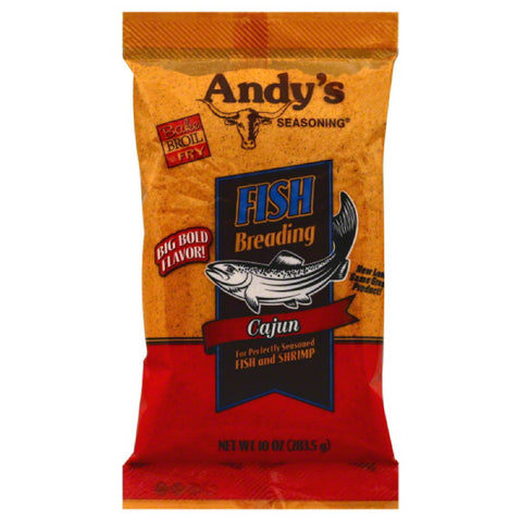 Andys Seasoning Cajun Fish Breading, 10 Oz (Pack of 6)