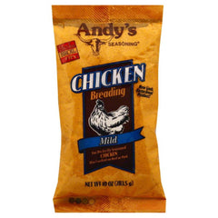 Andys Seasoning Mild Chicken Breading, 10 Oz (Pack of 6)