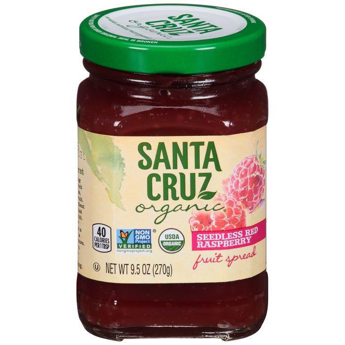 Santa Cruz Organic Seedless Red Raspberry Fruit Spread 9.5 Oz (Pack of 6)