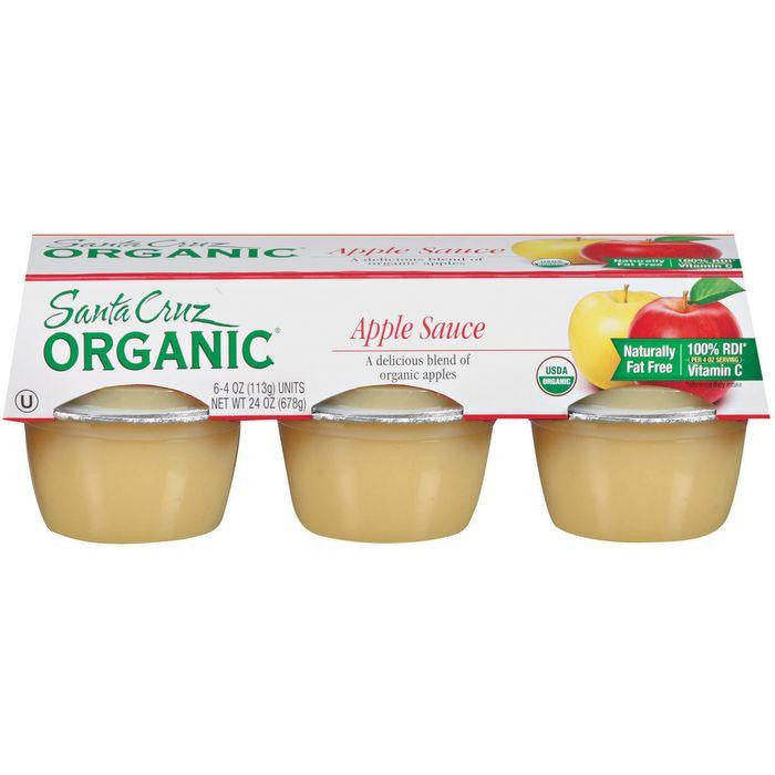 Santa Cruz Organic 4 Oz Apple Sauce 6 Pk (Pack of 12)