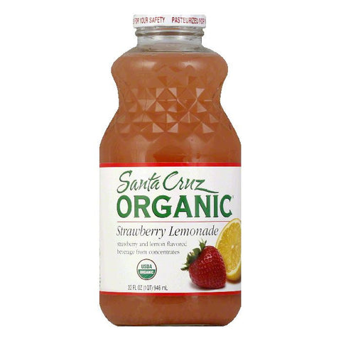 Santa Cruz Strawberry Lemonade, 32 OZ (Pack of 12)