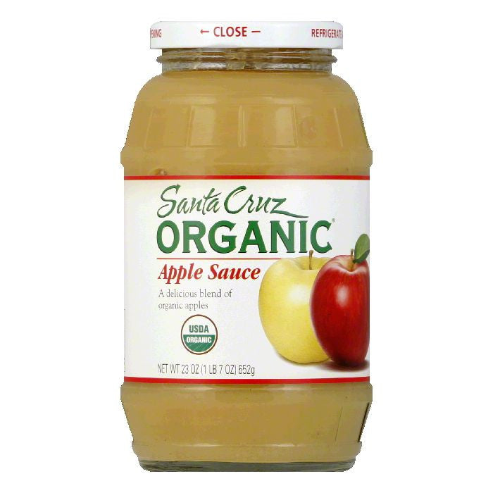 Santa Cruz Organic Apple Sauce 23 Oz (Pack of 6)