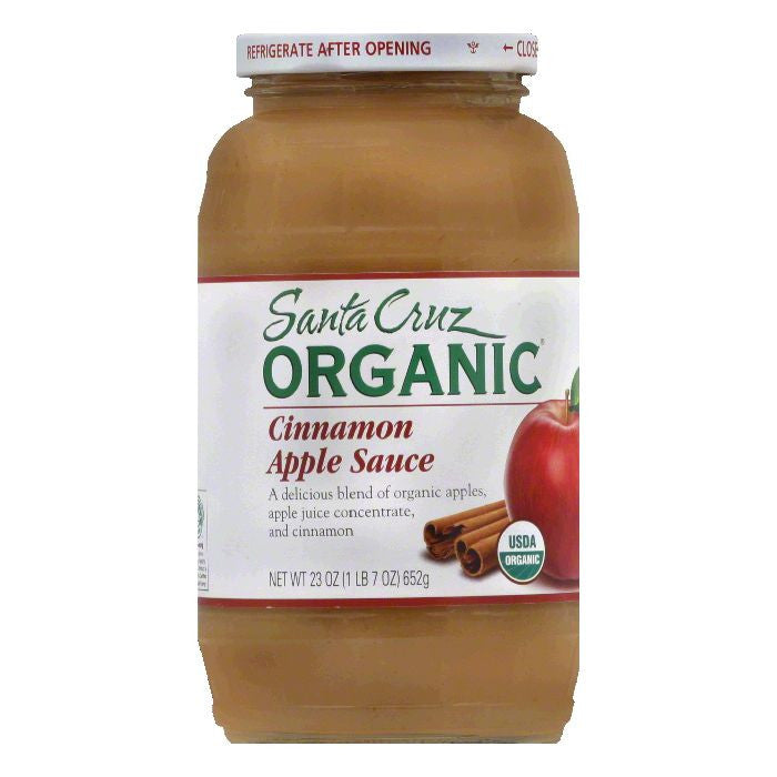 Santa Cruz Organic Cinnamon Apple Sauce 23 Oz (Pack of 6)