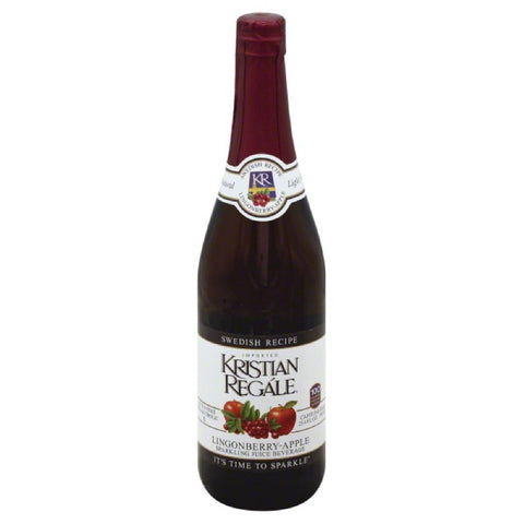 Kristian Regale Lingonberry-Apple Swedish Recipe Sparkling Juice Beverage, 25.4 Fo (Pack of 12)