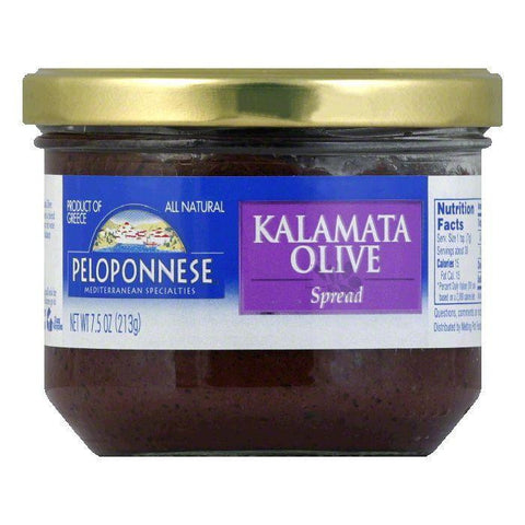 Peloponnese Olives Kalamata Olive Spread, 7.5 OZ (Pack of 6)
