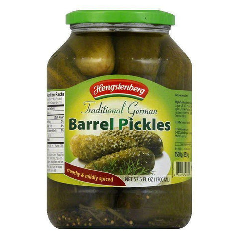 Hengstenberg Barrel Pickles, 57.5 OZ (Pack of 6)