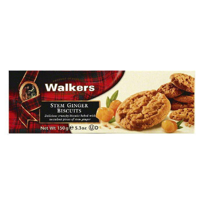 Walkers Stem Ginger Biscuits, 5.3 OZ (Pack of 12)