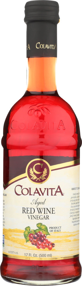 Colavita Aged Red Wine Vinegar, 17 Oz (Pack of 12)