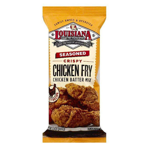 Louisiana Crispy Chicken Fry Seasoned Chicken Batter Mix, 9 OZ (Pack of 12)