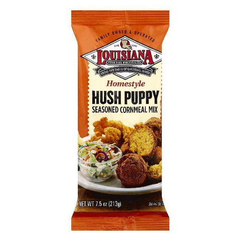 Louisiana Homestyle Hush Puppy Seasoned Cornmeal Mix, 7.5 OZ (Pack of 12)
