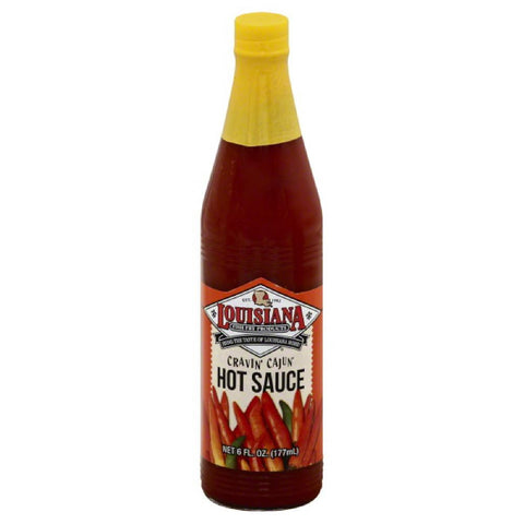Louisiana Cravin' Cajun Hot Sauce, 6 Oz (Pack of 12)