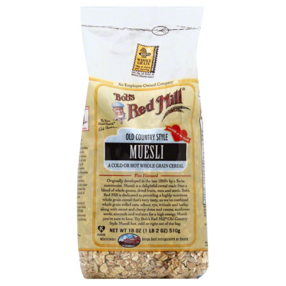 Bobs Red Mill Old Country Style Muesli, 18 Oz (Pack of 4)