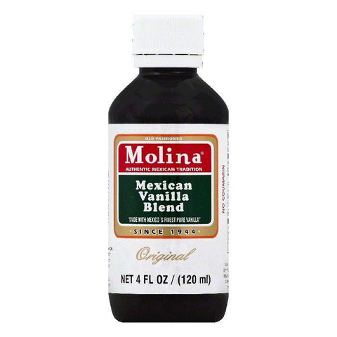 Molina Original Mexican Vanilla Blend, 4 OZ (Pack of 12)
