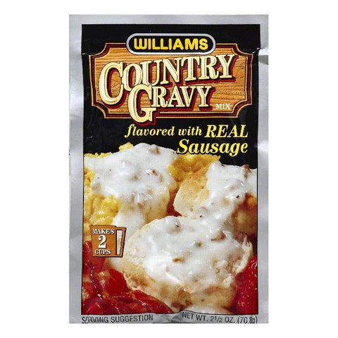 Williams Flavored with Real Sausage Country Gravy Mix, 2.5 OZ (Pack of 12)