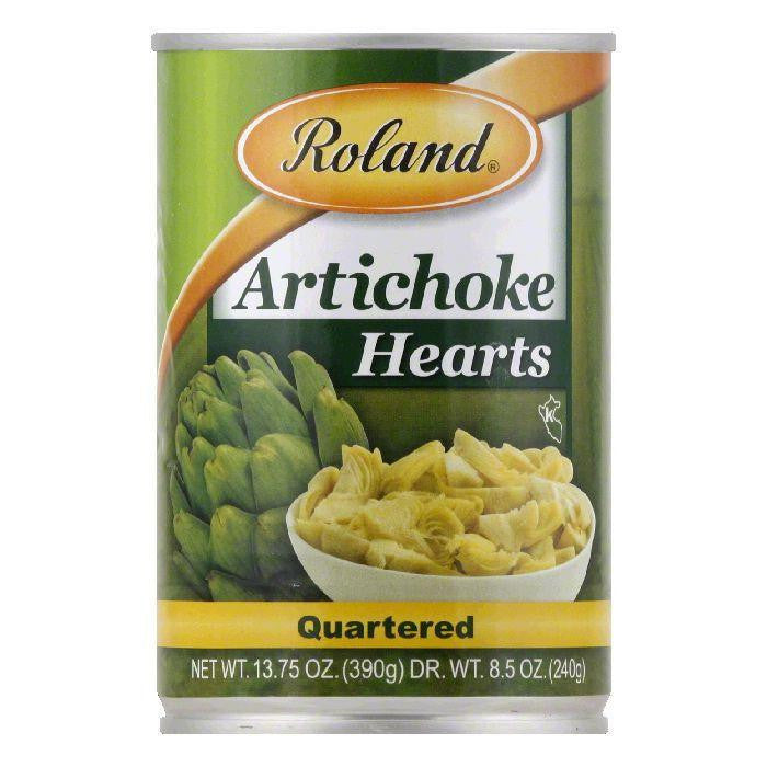 Roland Artichoke Hearts Quartered, 13.75 OZ (Pack of 12)
