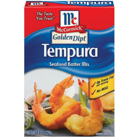 Golden Dipt Tempura Seafood Batter Mix 8 Oz (Pack of 8)